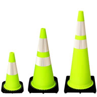 Lime Safety Cones