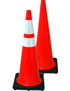"36"" Traffic Cone - Black Base"
