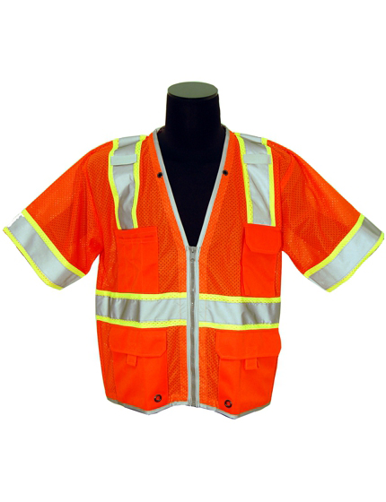 ORANGE Brilliant Class 3 Vest