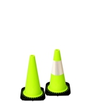 "Lime 18"" Traffic Cone with Black Base"